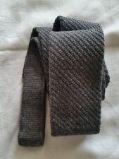 Van Laack Cravate 100% Laine Vierge Gris Emballage D'Origine Neuf