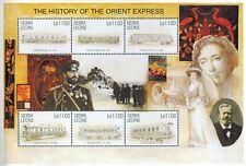 MODERN GEMS - Sierra Leone - History of the Orient Express IV - Sheet of 6 - MNH