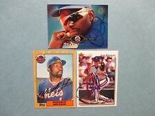 MOOKIE  WILSON/BOBBY  BONILLA/DAVE  MAGADAN  New  York  Mets   Signed  Cards