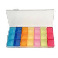 Pillenbox , Medikamenten Dosierer für 7 Tage , Tablettenbox, Neu G7Z3