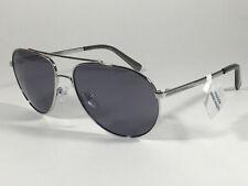 8e1704d8e7b Authentic Calvin Klein R167S 045 Aviator Pilot Sunglasses Silver And Gray  Lens