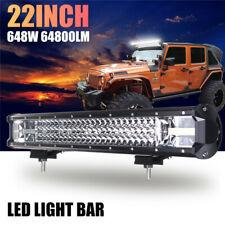 22 Inch 648W LED Work Light Bar Flood Spot Combo Driving Lamp Car Truck