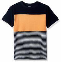 Size L 10-12 Gymboree Boys/' Short Sleeve Colorblock Stripe TEE Peach