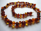 Natural Cognac Beads BALTIC AMBER Necklace 18''