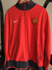 Nike Manchester United Jacket Full Zip Red/Black Size Mens XL