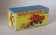 Repro Box Matchbox 1:75 Nr.65 Combine Harvester