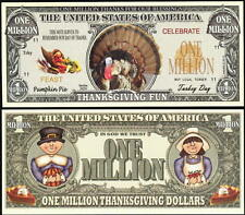 Thanksgiving Turkey Million Dollar Collectible Fake Funny Money Novelty Note
