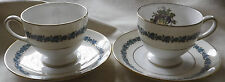 2 Wedgwood Appledore Cup and Saucer Bone China England Fruits.