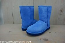 UGG CLASSIC SHORT SKYLINE BLUE SUEDE WOMENS BOOTS US 7 NIB