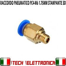 Raccordo pneumatico PC4-M6 innesto per tubo PTFE 1,75mm Ø 4mm stampante 3D