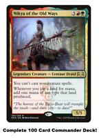 MTG Commander EDH Nikya of the Old Ways 100 Cards Custom Deck Creatures R/G