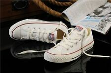 White US7.5 women Lady ALL STARs Chuck Taylor Ox Low Top shoes Canvas Sneakers