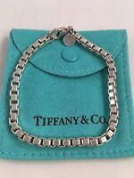 """Tiffany & Co Sterling Silver Venetian Box Link Bracelet 7.5"""". RRP $345"""