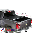Soft Roll Up Tonneau Cover For 2007-2013 Chevy Silverado GMC Sierra 6.5ft Bed