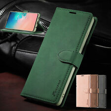 For Samsung Note10 S10 Plus S8 S9+ Leather Wallet Case Card Stand Flip Cover