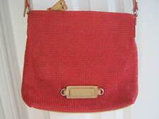 Betty Barclay Red/Beige Crochet Overlay Shoulder Bag bnwot