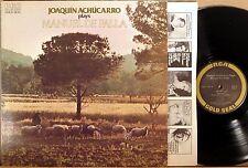 RCA GOLD SEAL PROMO De Falla JOAQUIN ACHUCARRO Guitar Pieces 1976 AGL1-1967