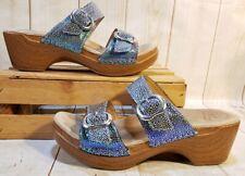 Dansko Sophie Blue Iridescent Sandal Women Size 6-6.5/EUR 37