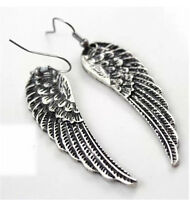 Vintage Women Angel Wings Tibet Silver Drop Dangle Earrings Fashion Jewelry Gift