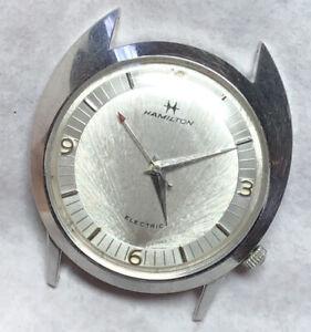 Gorgeous Vintage 1961 Hamilton Saturn Electric Asymmetric White Gold Fill Watch