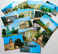 1989 VORONEZH Russian City Hotel Buildings Architecture Set of 18 USSR Postcards