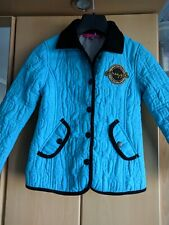 PINEAPPLE TURQUOISE QUILTED LINED JACKET AGE 4-5 YEARS
