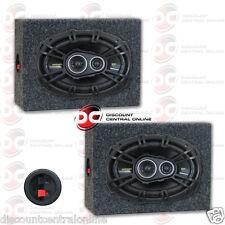 "KICKER 40CS6934 6"" x 9"" 3-WAY CAR AUDIO COAXIAL SPEAKERS PLUS 2 x SPEAKER BOXES"