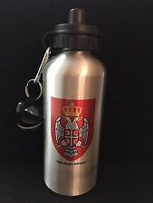 REPUBLIKA SRPSKA-Serbian-Serbia-Water Bottle-Aluminum-Silver Finish-20 oz/600ml