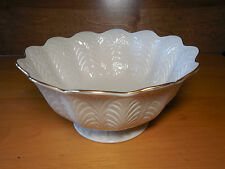 "Lenox USA GREENFIELD COLLECTION Centerpiece Bowl 10"" Scalloped Embossed"