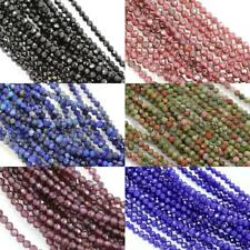 Size 2mm Faceted Round Semi-precious Gemstone Spacer Beads for Jewellery Making