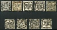 GERMANY STATES BADEN SCOTT# 19 MICHEL# 17 USED LOT OF 9 AS SHOWN