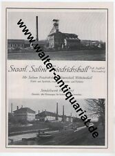 Saline Bad Friedrichshall Large Advertising V. 1926 are chasing Box Clemens Hall Cooking Village