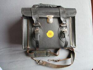 alte Tasche , wohl Fernmeldewesen für Messinstrumente - Leder ? - Post