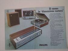 advertising Pubblicità 1970 PHILIPS RH 790/REGISTRATORE N 4500/GIRADISCHI GA 202