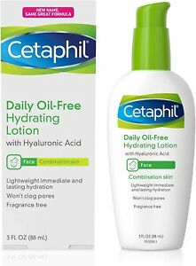 Cetaphil Face Moisturizer, Daily Oil-Free Hydrating 3 Ounce, Basic