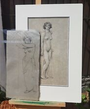 ATTRIBUTED TO FRITZ GLARNER (1899-1972) SWISS-AMERICAN 2 CHARCOAL SKETCHES NUDES