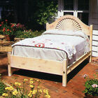 Santa Fe Shell Bed, FULL Size, USA Hand Made Reproduction, Solid Pine