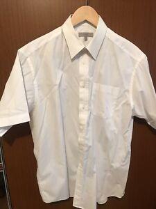 2 X Men's M&S Short Sleeved Shirt 16 White
