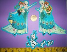 New! Cool! Disney's Frozen Sisters Anna and Elsa IRON-ONS FABRIC APPLIQUES