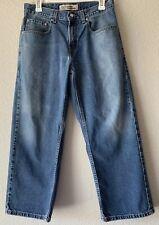 Levis Loose Straight Husky 569 Boys Denim Blue Jeans 30W x 26L