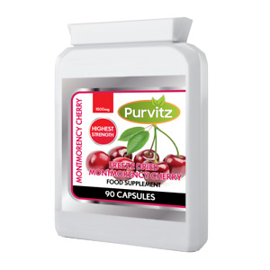 Pure Montmorency Cherry HIGH Strength 1500mg Per Strong Capsule UK x2 STRONGER