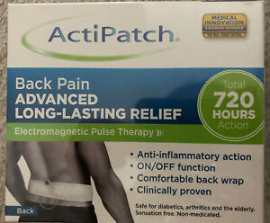 ACTIPATCH BACK PAIN 720 HOURS LONG LASTING RELIEF ELECTROMAGNETIC PULSE THERAPY