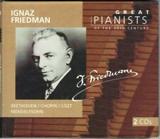 Ignaz Friedman: GREAT PIANISTS OF THE 20th CENTURY 2cd Beethoven CHOPIN LISZT