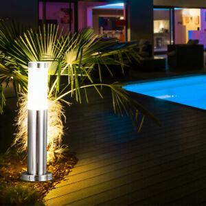 LED Supporto Lampada Illuminazione Acciaio Inox Esterno IP44 Garten Veranda Hof