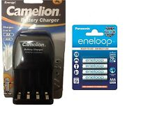 AA/AAA BATTERY CHARGER 4 x AAA ENELOOP RECHARGEABLE BATTERIES