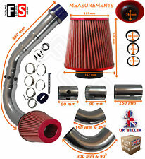 UNIVERSAL PERFORMANCE COLD AIR FEED PIPE AIR FILTER KIT RED 2103RF-FRD2