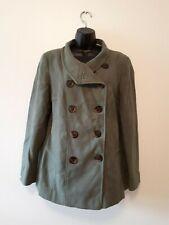 Marks & Spencer Womens Khaki Green Coat Size 14