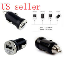 Micro Mini Car Cigarette Lighter to USB Charger Adapter for i phones/mp3s/TomTom