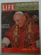 Life Magazine November 10, 1958 - New Pope Takes Over