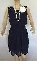 1920'S GATSBY FLAPPER VINTAGE LOOK CHARLESTON DOWNTON BEADED DRESS SIZE 10/12